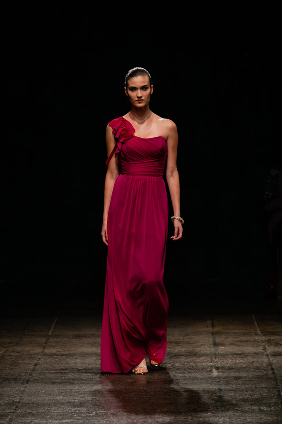Spring 2013 bridesmaid dress Alvina Valenta bridal Deep Red