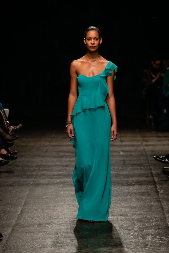 Spring 2013 bridesmaid dress Jim Hjelm Occasions teal