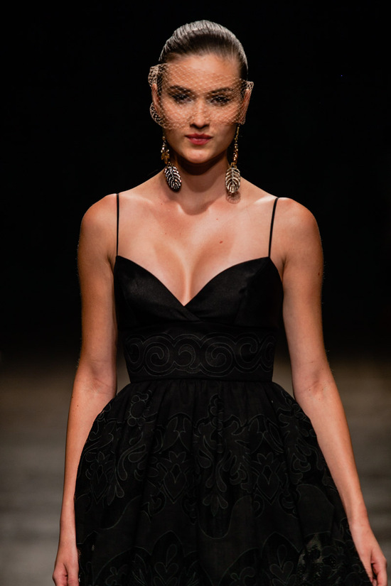Black bridesmaid dress Spring 2013 Lazaro bridals 2