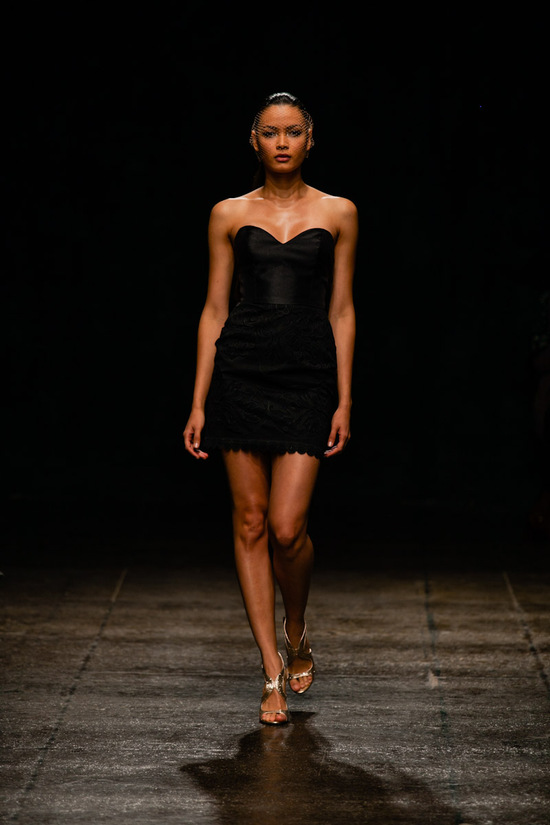 Black bridesmaid dress Spring 2013 Lazaro bridals 3