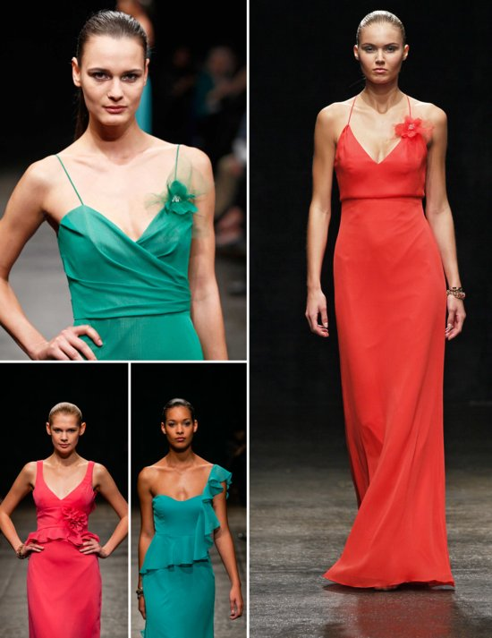 Bright beautiful bridesmaid dresses from JLM Couture Spring 2013