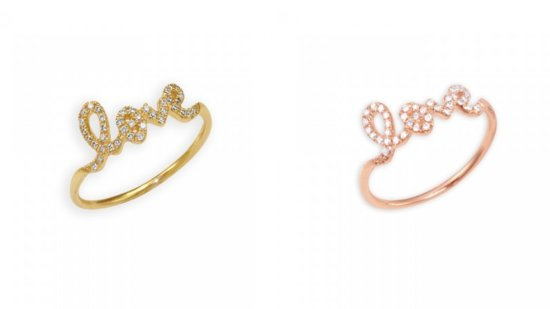 photo of Sydney Evan LOVE Rings via The Fancy
