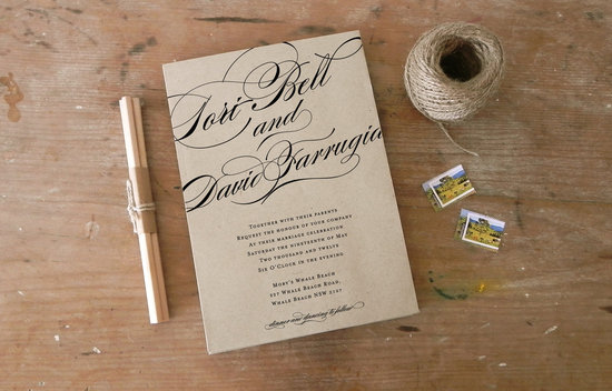 DIY wedding ideas for budget savvy brides calligraphy invite