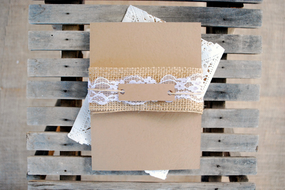 DIY wedding ideas for budget savvy brides kraft paper lace
