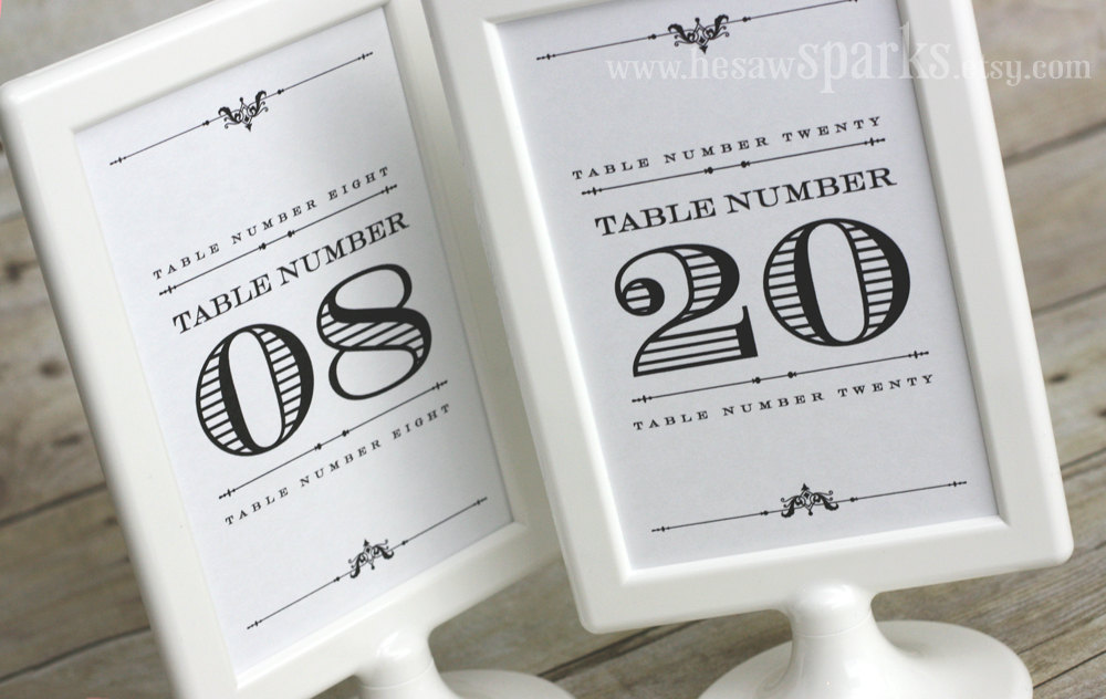 diy wedding ideas for budget savvy brides table numbers