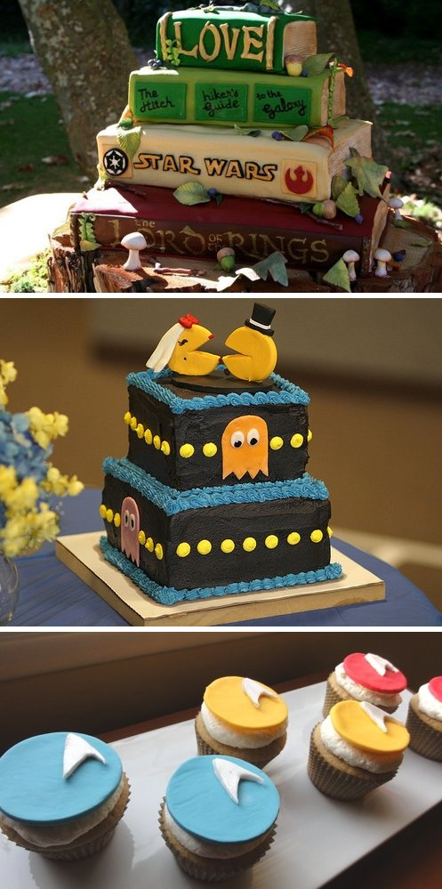AWESOME GEEKY GROOMS CAKES 10 unique wedding cakes 2