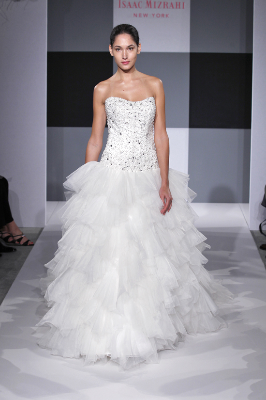 photo of Spring 2013 wedding dress Isaac Mizrahi Spring 2013 bridal 11