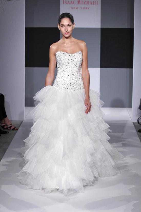 photo of Spring 2013 wedding dress Isaac Mizrahi Spring 2013 bridal 11