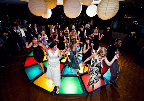 Destination Wedding Reception Dancing The Club Light Up Floor Amelia