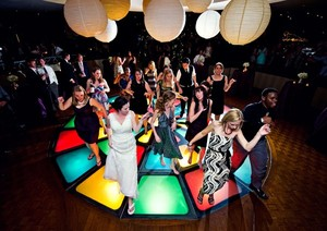 photo of destination wedding reception dancing the club light up floor amelia strauss photography e1332950035