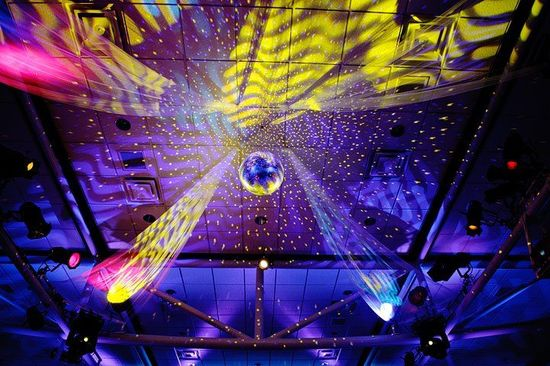 photo of disco ball wedding couture events by lottie
