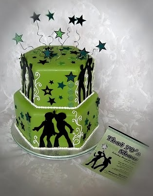 photo of Seventies Disco Theme Cake sm