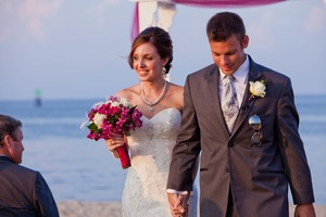 photo of Elegant Beach Wedding with Pretty DIY Details