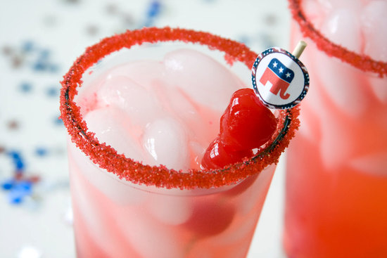 Election Day Inspiration for Patriotic Nearlyweds cocktails