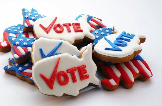 Election Day Inspiration for Patriotic Nearlyweds cookies