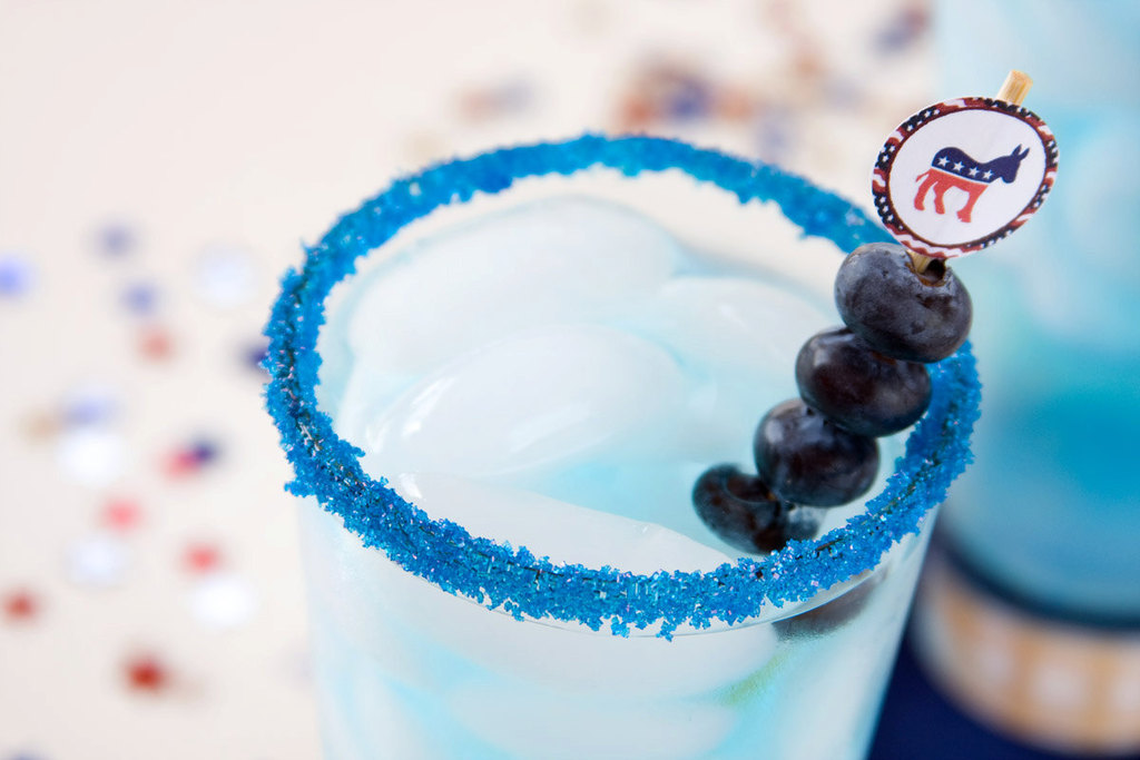 Election Day Inspiration for Patriotic Nearlyweds blue signature drinks