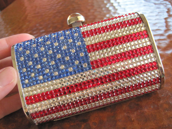 Election Day Inspiration for Patriotic Nearlyweds beaded clutch