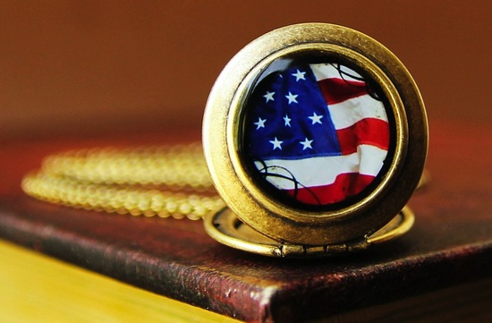 Election Day Inspiration for Patriotic Nearlyweds locket