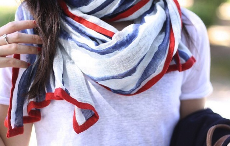 Election Day Inspiration for Patriotic Nearlyweds scarf