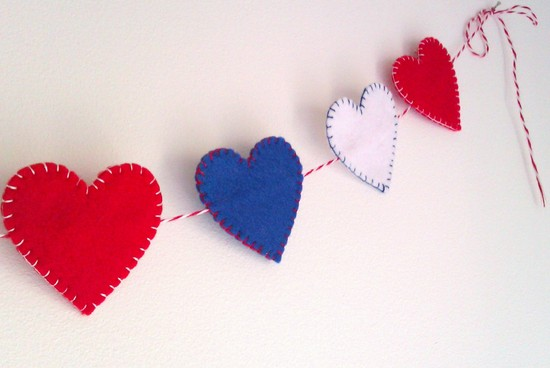 Election Day Inspiration for Patriotic Nearlyweds handmade garland