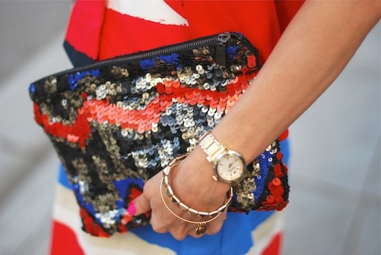 Election Day Inspiration for Patriotic Nearlyweds sequin clutch