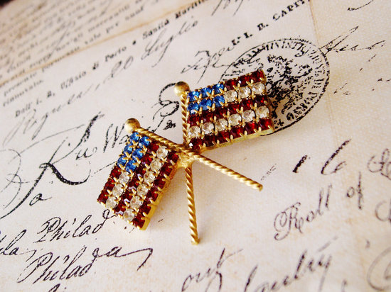 Election Day Inspiration for Patriotic Nearlyweds vintage brooch