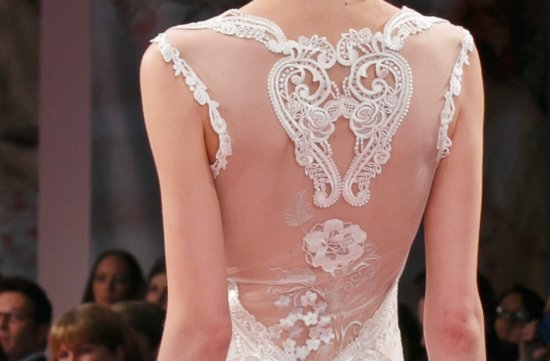 Fall 2013 wedding dress Claire Pettibone statement backs 1