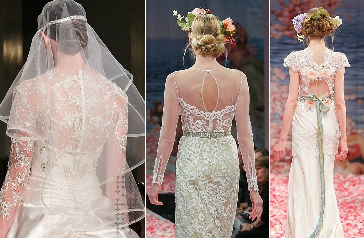 statement back wedding dresses fall 2013 bridal