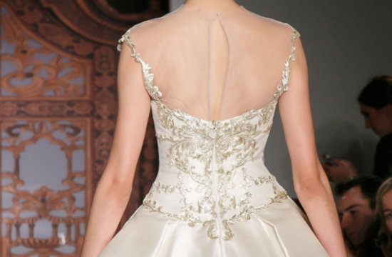reem acra fall 2013 bridal sheer statement back