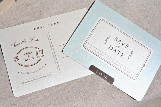Wedding Inspiration Planning by Color Pale Light Blue shimmery save the date