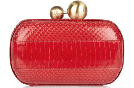 Racy Red Wedding Accessories DVF bridal clutch