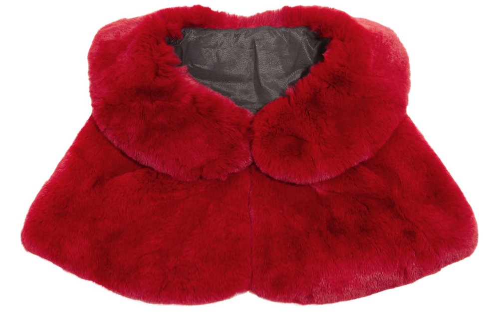 Red Wedding Accessories for Passionate Stylish Brides faux fur cape