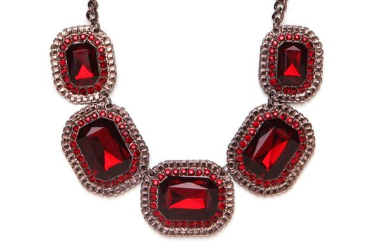 Red Wedding Accessories statement bridal necklace