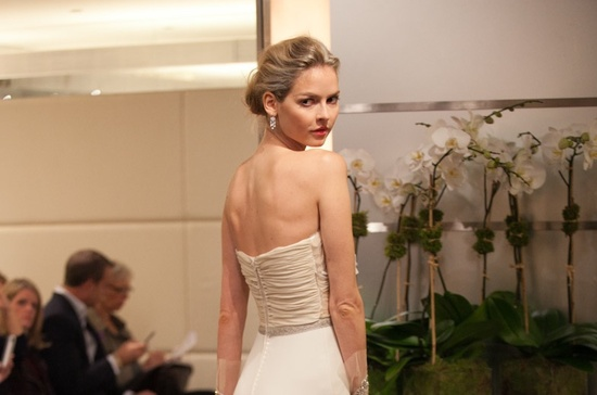 Wedding Hairstyle Trends from Fall 2013 Bridal Market messy chignon bun