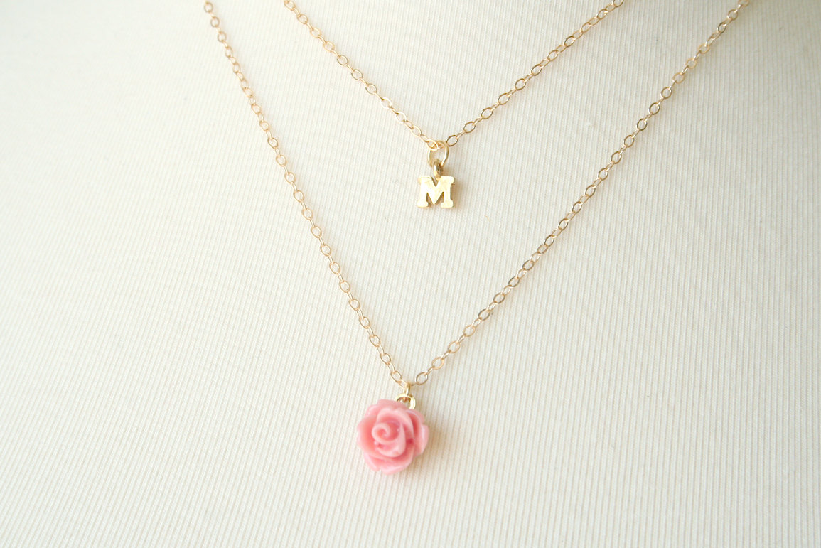 Wedding Gift Jewelry : Unique Wedding Gifts for Bridesmaids Initial Jewelry Accessories 16 ...