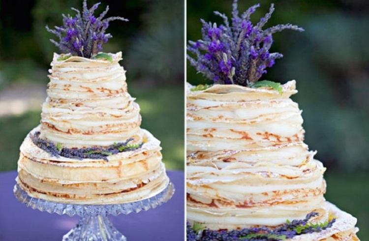 Cake Alternatives Layered Crepe Cake - Layered Wedding Cake