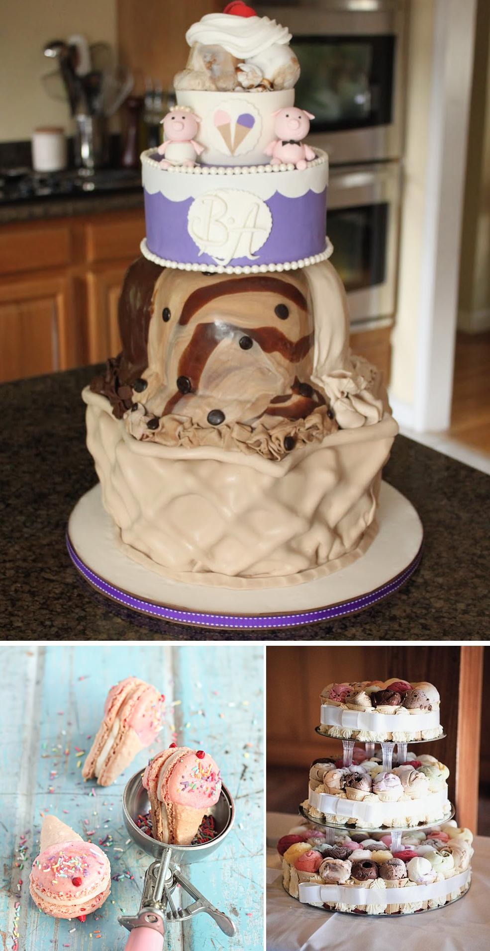 wedding cake alternatives ice cream cakes. Black Bedroom Furniture Sets. Home Design Ideas