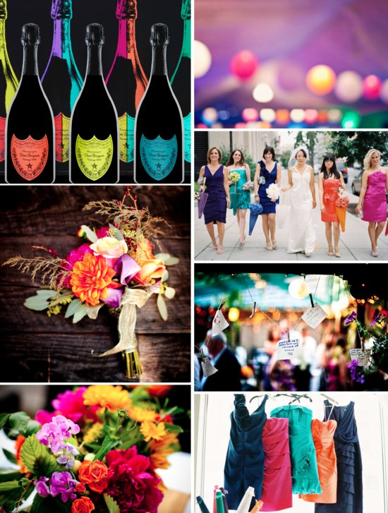 Technicolor Wedding Inspiration