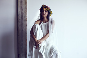 photo of Floral Bridal Veils for the Rustic Bohemian Bride