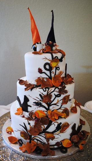 Fall Leave Wedding Cake
