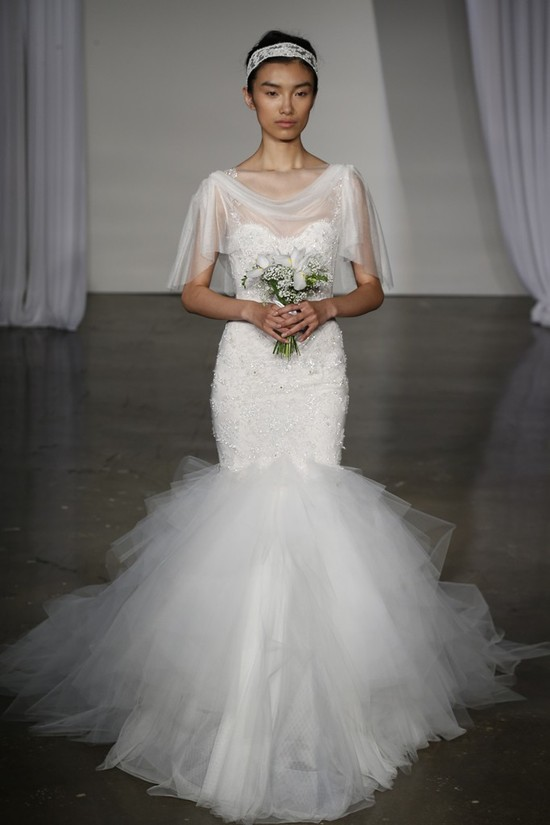 Fall 2013 wedding dress Marchesa bridal 15
