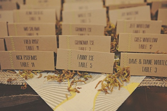 photo of 3 Showstopping Wedding Escort Card DIYs