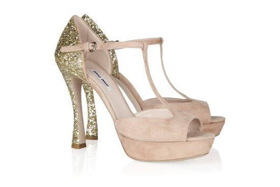 Peep Toe Wedding Shoes for Every Style Bride Glittery
