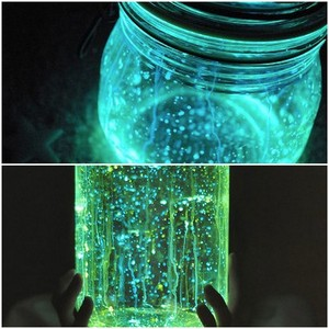 photo of Wedding Decor DIYs glow in the dark mason jars 2