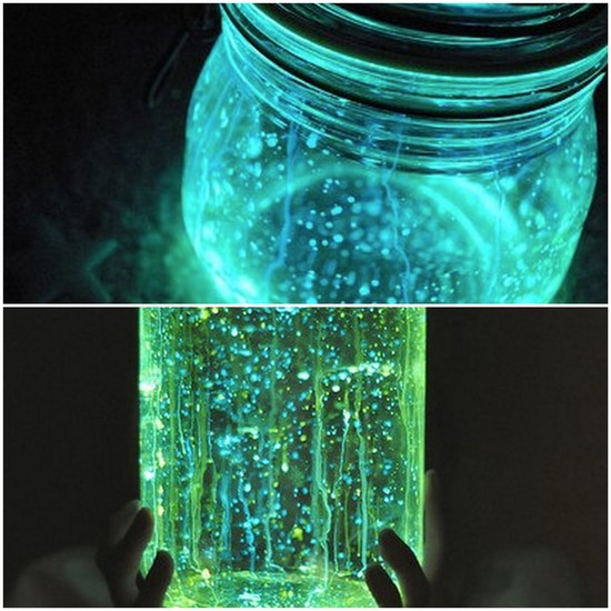 photo of Wedding Decor DIYs glow in the dark mason jars 2