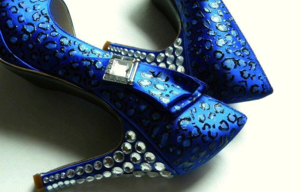 Something Blue custom wedding shoes