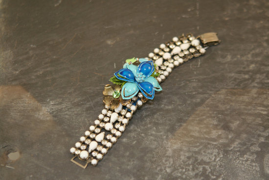 Something Blue for the Bride Splurge or Save vintage bracelet