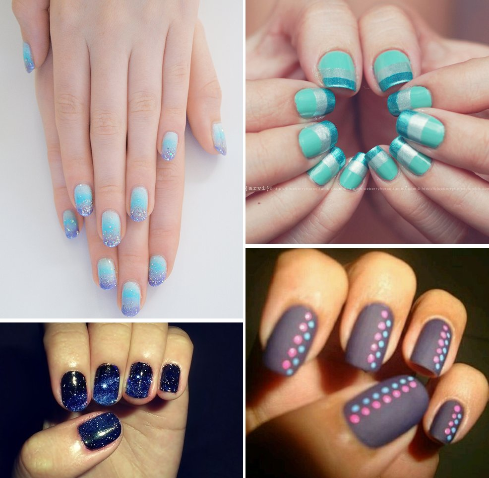 awesome wedding day manicures for beauty loving brides something blue