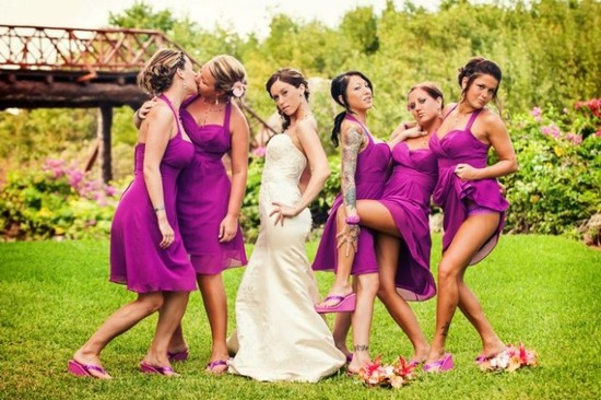 How NOT to pose as a bridesmaid