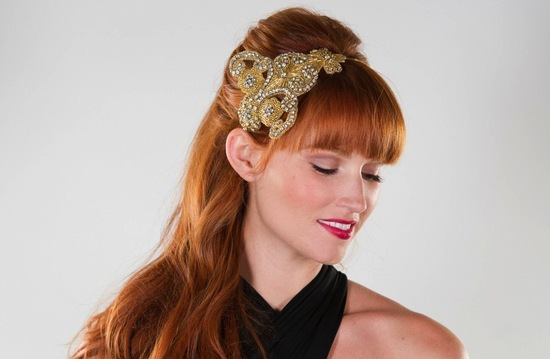 Glittery Gold Wedding Finds for Glam Handmade Weddings bridesmaid headband